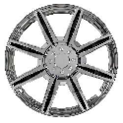"Image of ""Pilot Automotive Chrome 8 Spoke 16"""" Wheel Cover with Black Inserts (Set of 4)"""